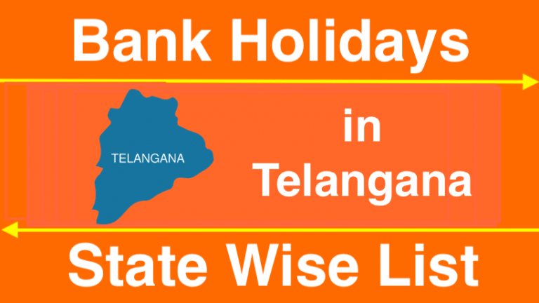 Bank Holidays in Telangana