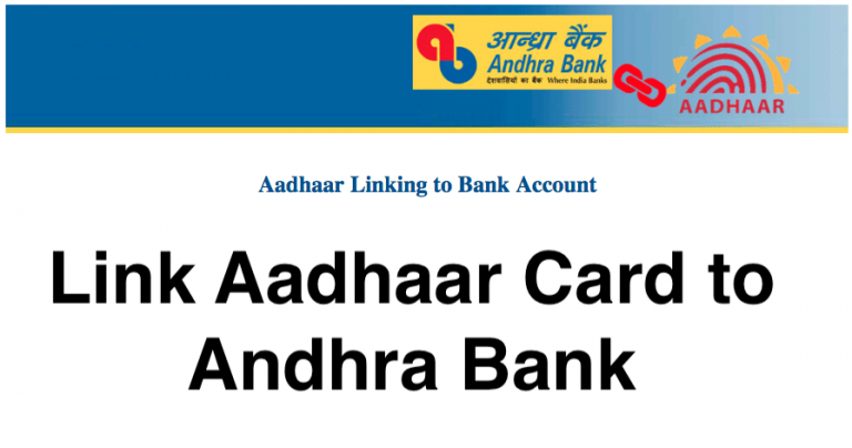 Link Aadhaar Card to Andhra Bank