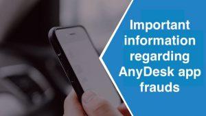 AnyDesk app frauds