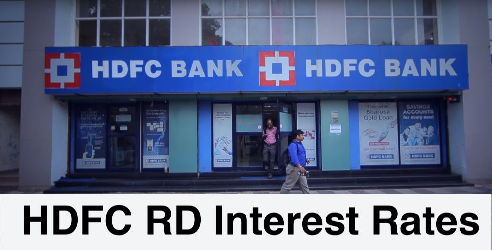 HDFC RD Interest Rates