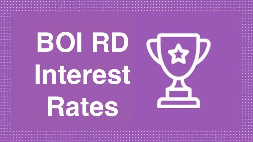 BOI RD Interest Rates