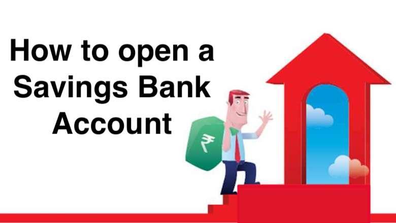 open a savings bank account