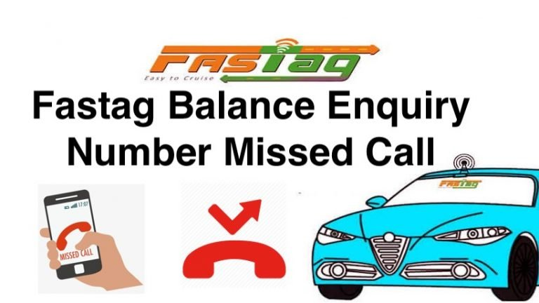 Fastag Balance Enquiry Number