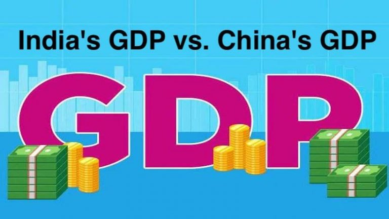India's GDP vs. China's GDP