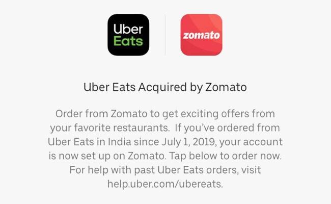 Uber Eats Now Zomato