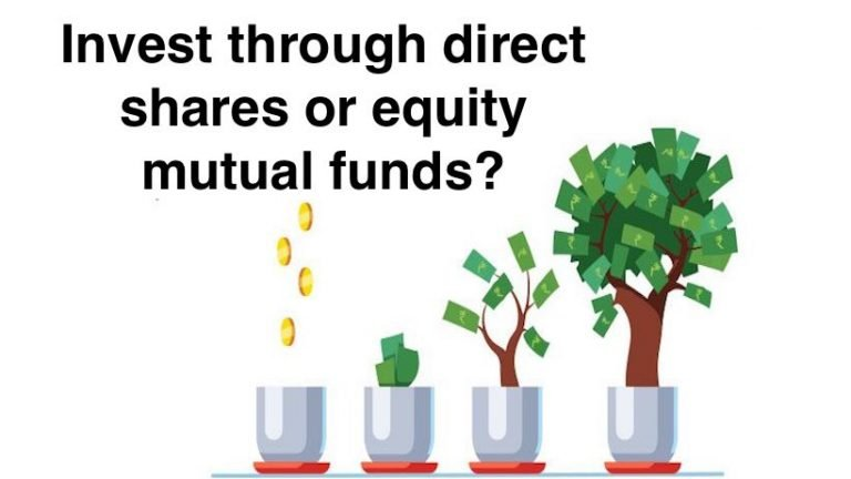 Invest through direct shares or equity mutual funds?