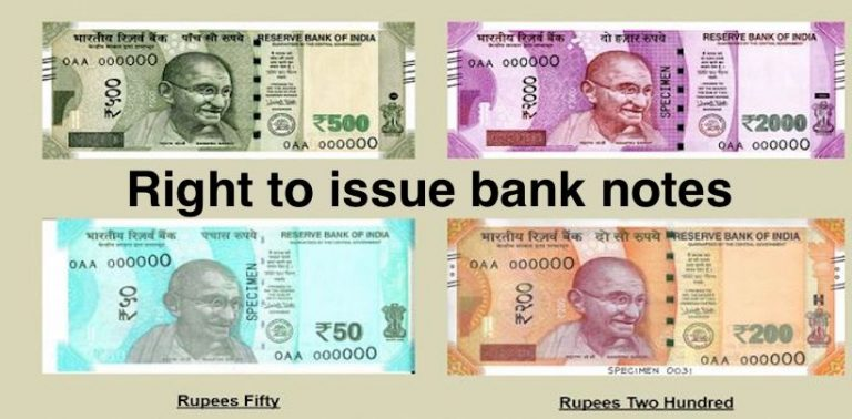 Right to issue bank notes