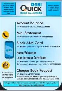SBI Balance Check No
