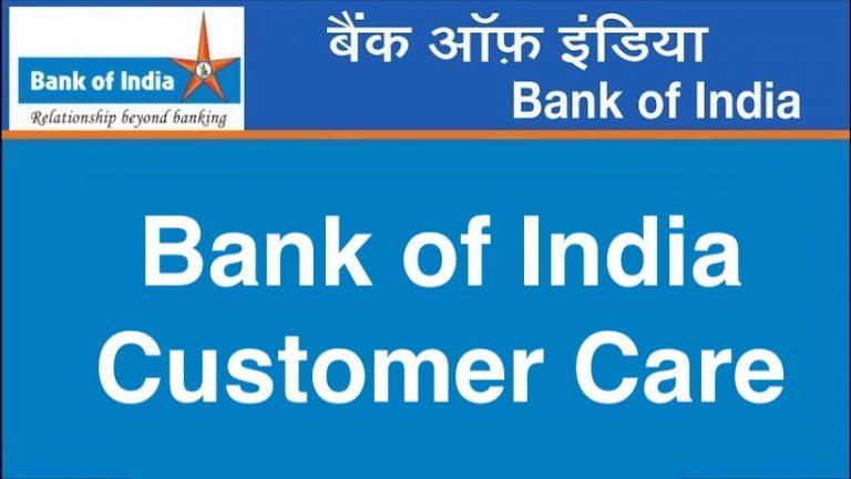 Bank of India Customer Care