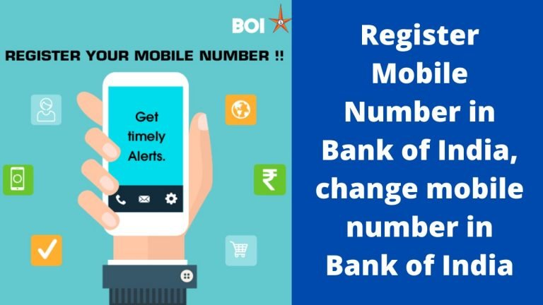 Register Mobile Number in Bank of India