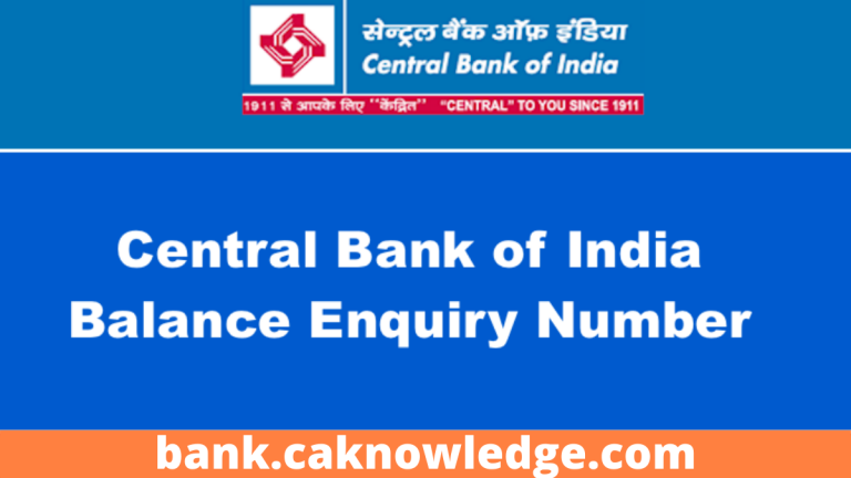 Central Bank of India Balance Enquiry