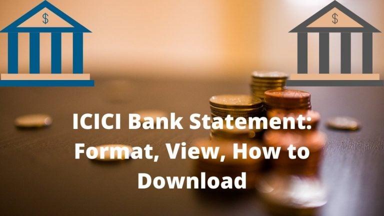ICICI Bank Statement