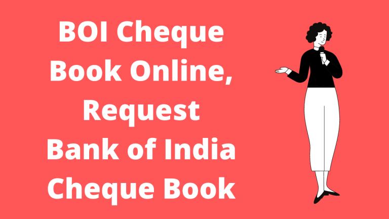 BOI Cheque Book Online