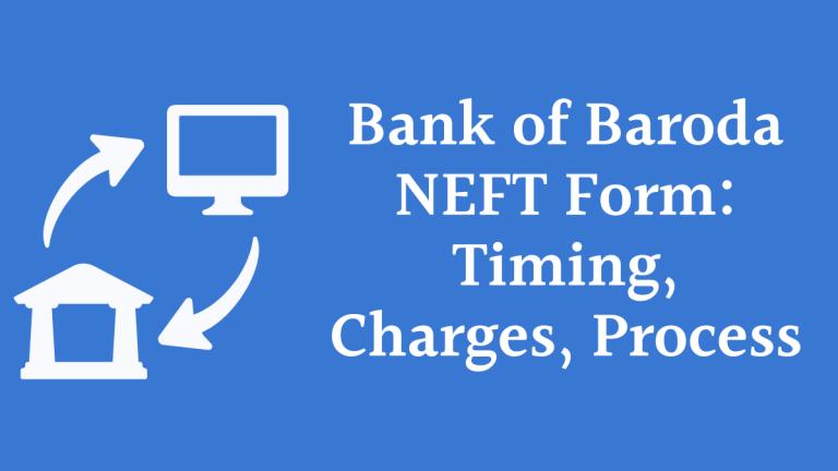 Bank of Baroda NEFT Form