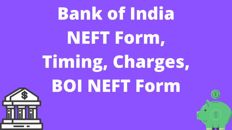 Bank of India NEFT