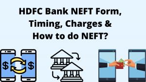 HDFC Bank NEFT Form