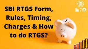 SBI RTGS Form