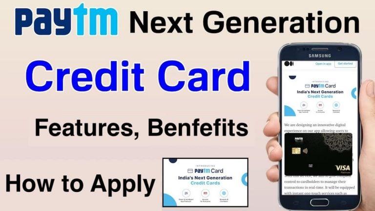 Paytm Next Generation Credit card