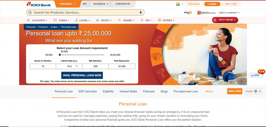 ICICI-Personal-loan